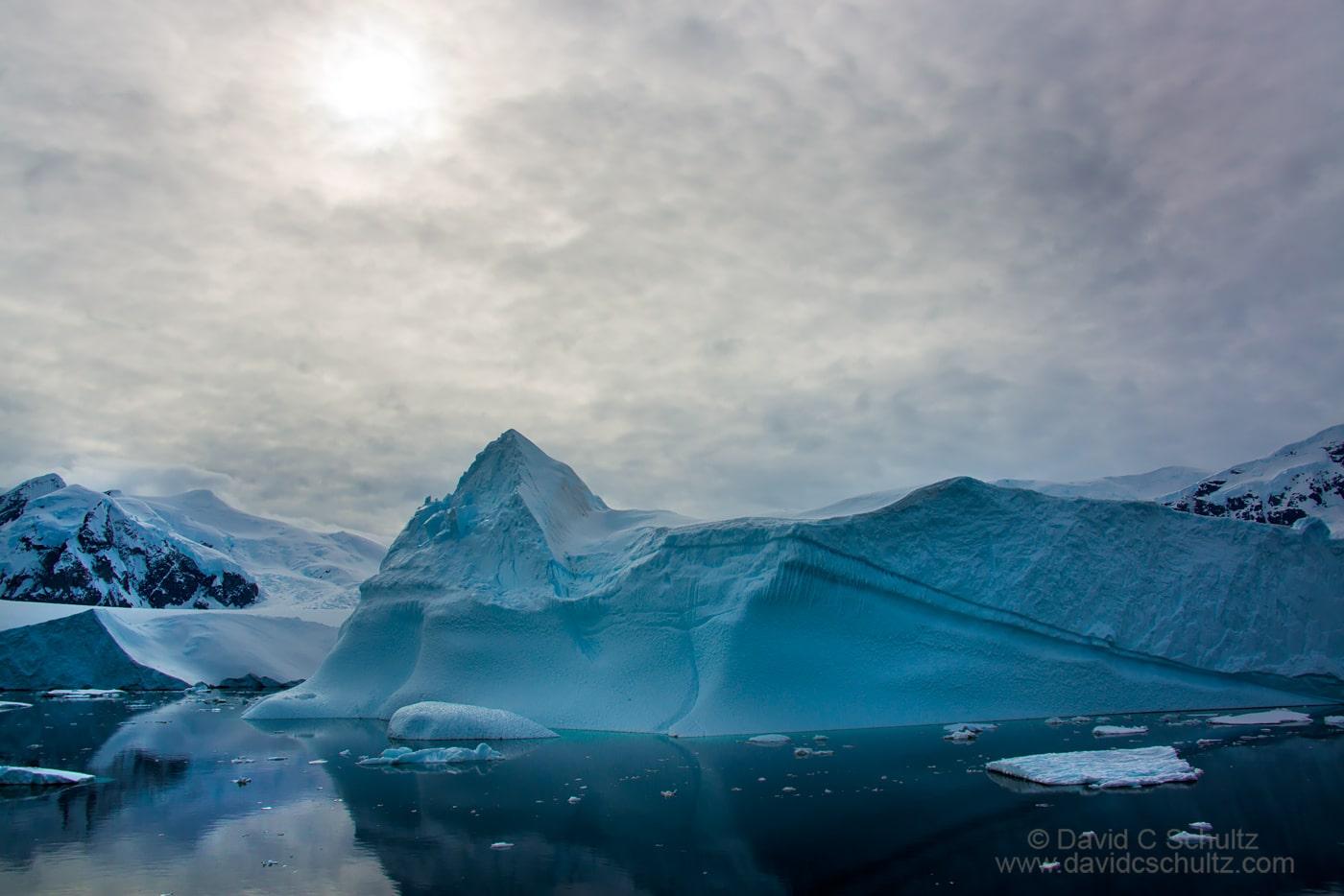 Iceberg and the Antarctic Peninsula - Image #167-2218