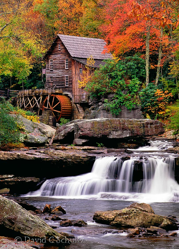 Fall at the Glade Creek Grist Mill in West Virginia - Image #129-89