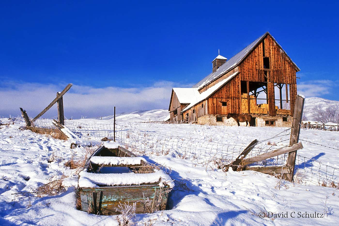 Winter at the Tate Barn Heber Valley Utah - Image #13-585