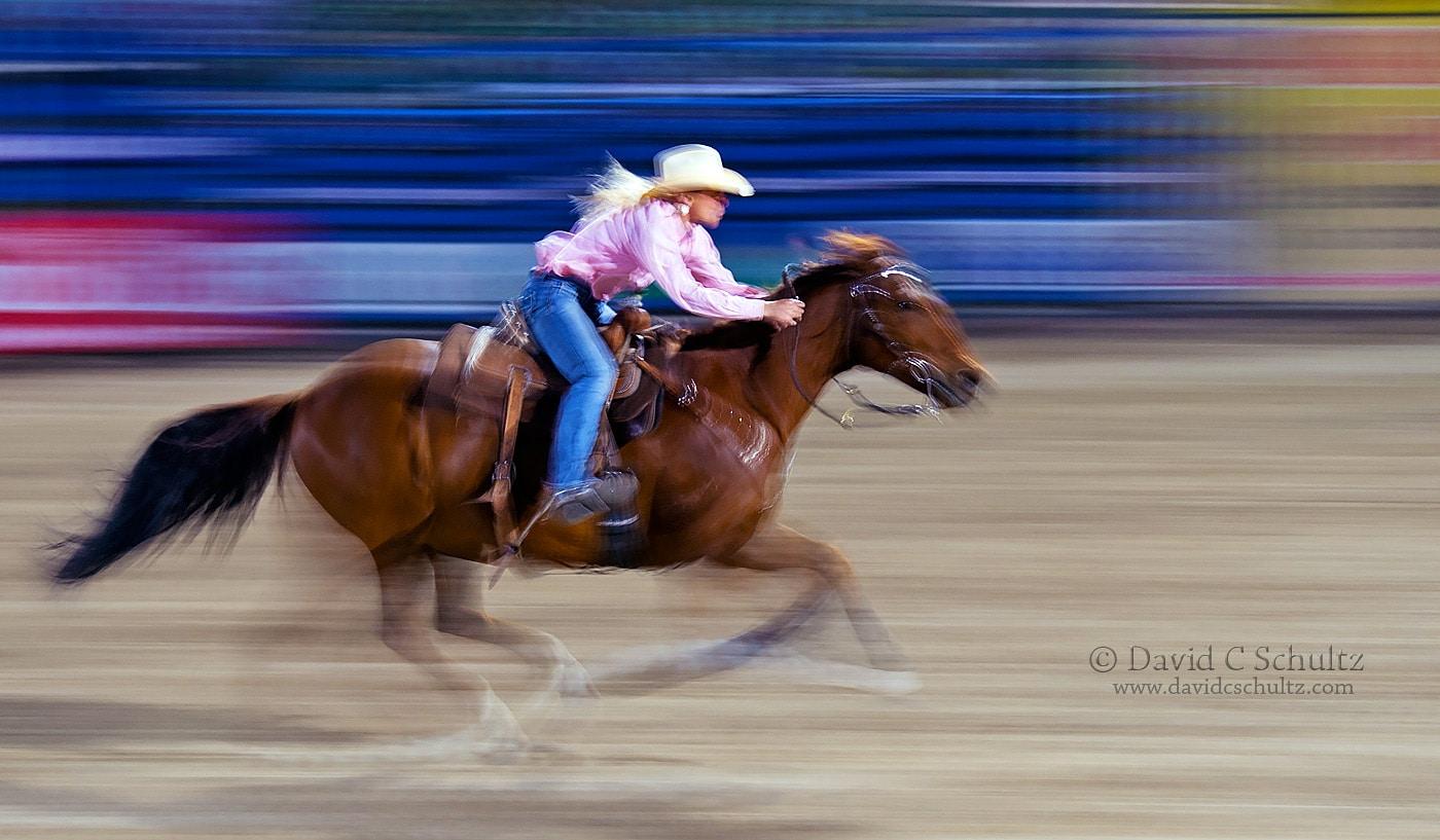 Barrel racer at Jackson Hole Rodeo - Image #217-824