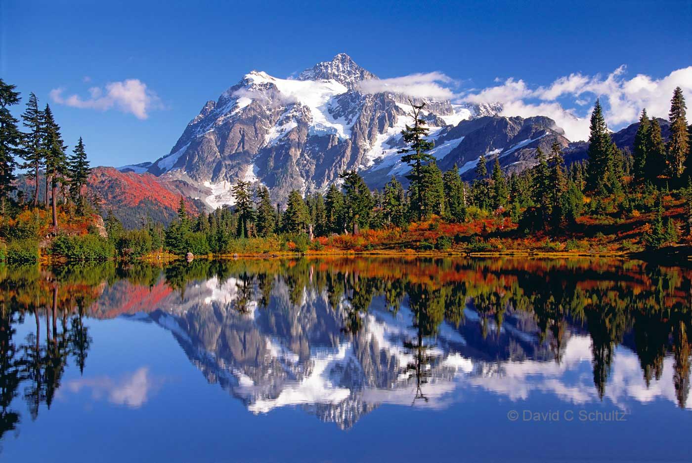 Picture Lake and Mt. Shuksan, WA - Image #68-3801