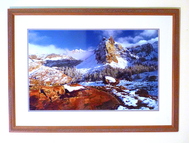 "#21 Twin Peaks Wilderness, Utah 52x38"" with frame"