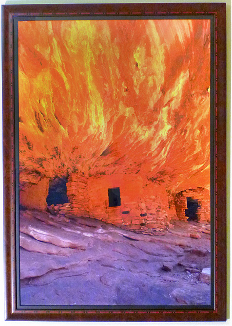 "#22 House on Fire Ruins, Utah, 44x31"" with frame"