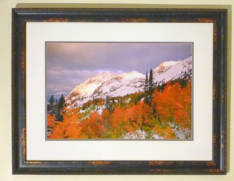 "#25 Superior Peak, Little Cottonwood Canyon, 44x34"" with frame"