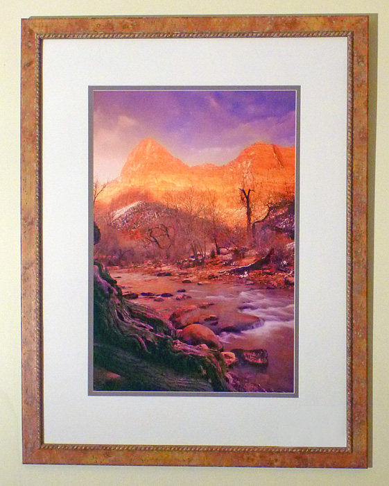 "#32 Zion National Park, Utah, 44x34"" with frame"