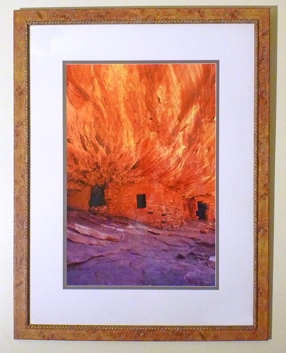 "#33 House on Fire Ruins, Utah, 44x34"" with frame"