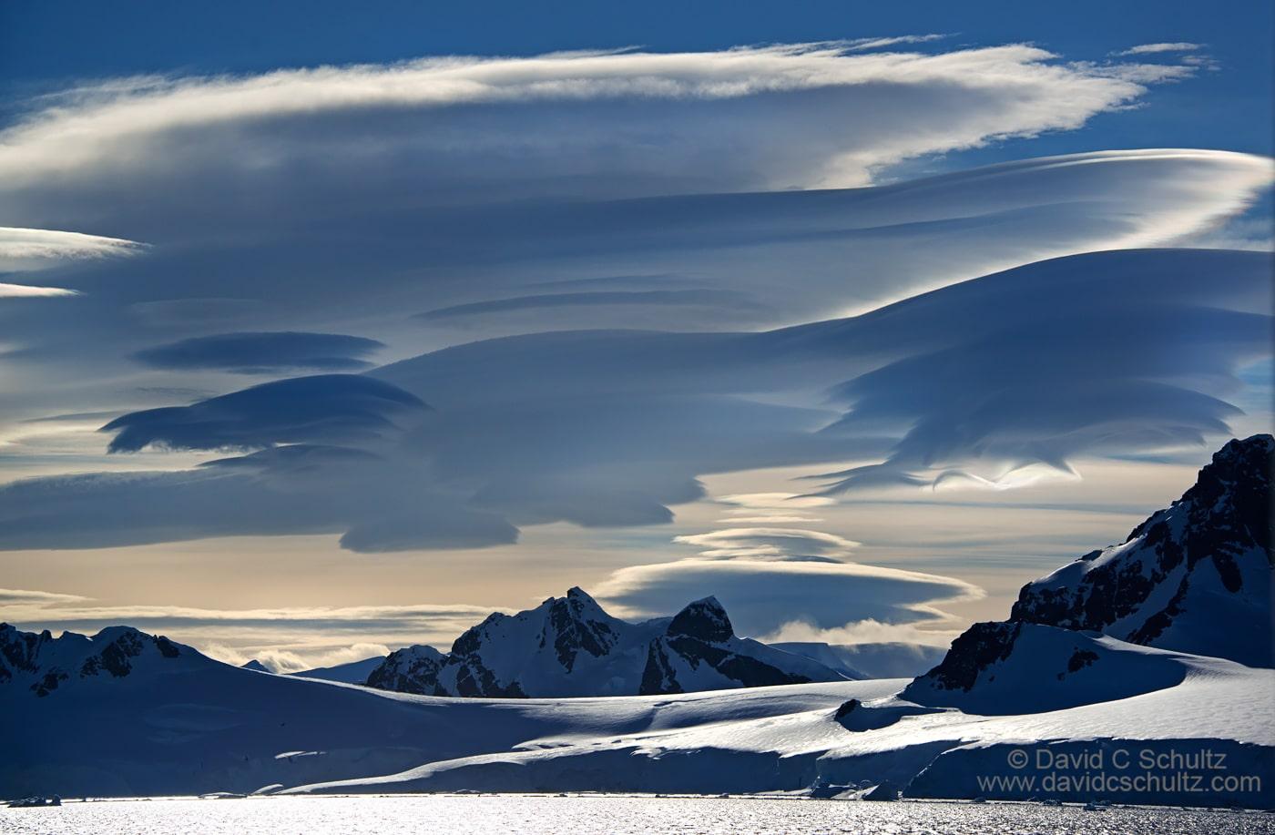Lenticular clouds in Antarctica - Image #166-1409