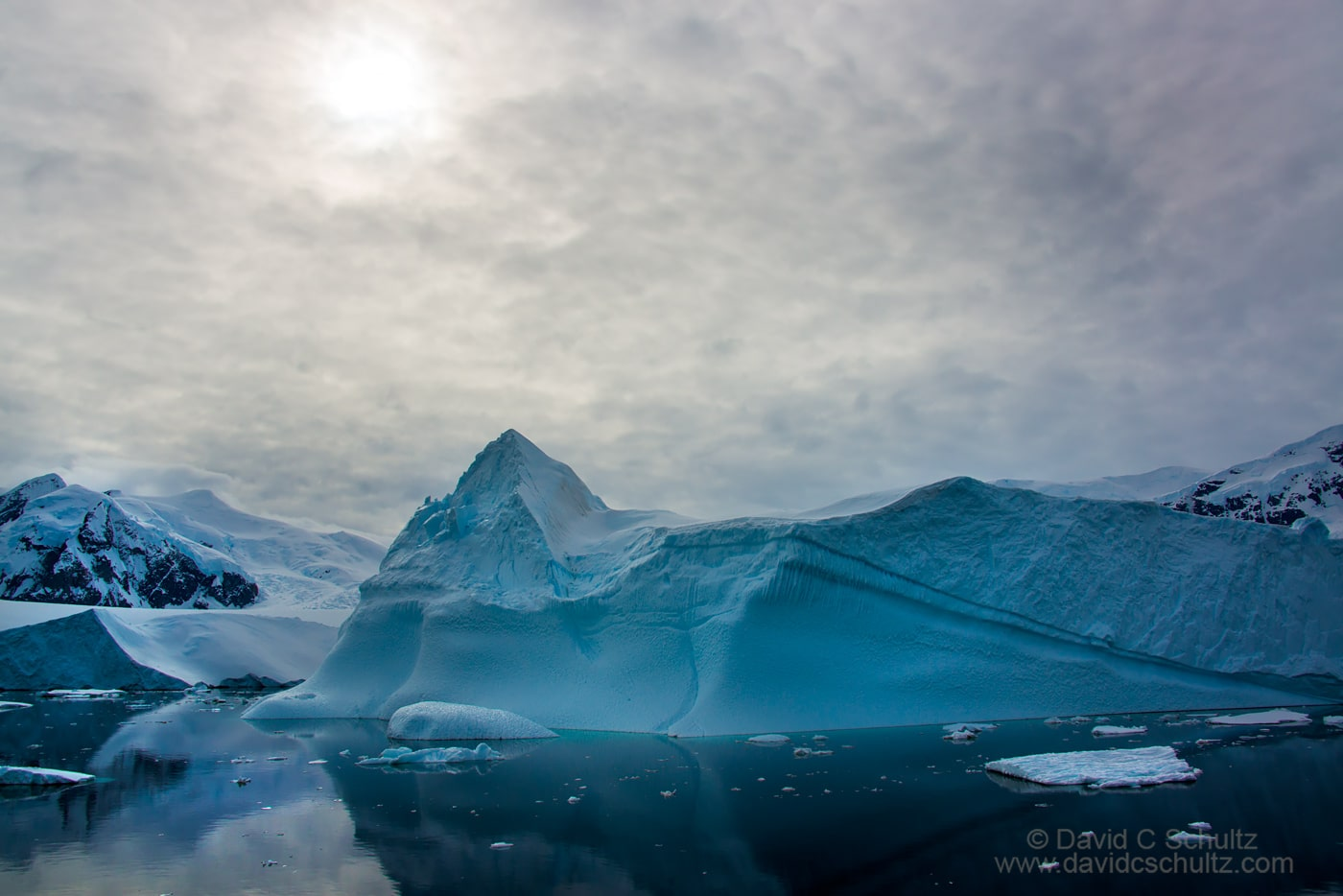 Iceberg and the Antarctic Peninsula - Image #167-2218