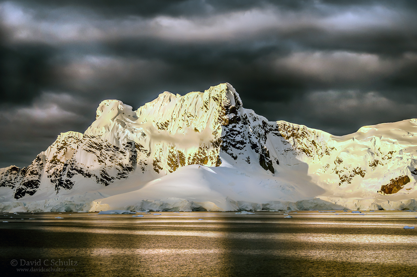 Sunset at Paradise Bay, Antarctica - Image #166-437