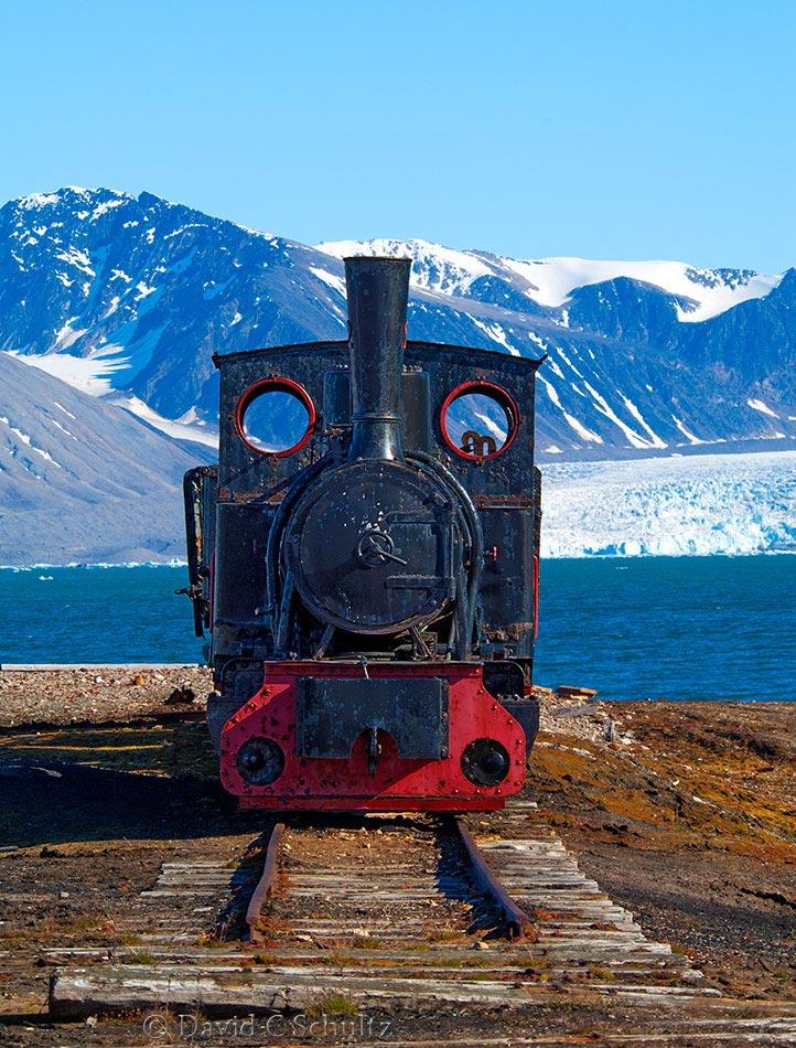 Old coal train on Ny-Alesund Svalbard - Image #170-005