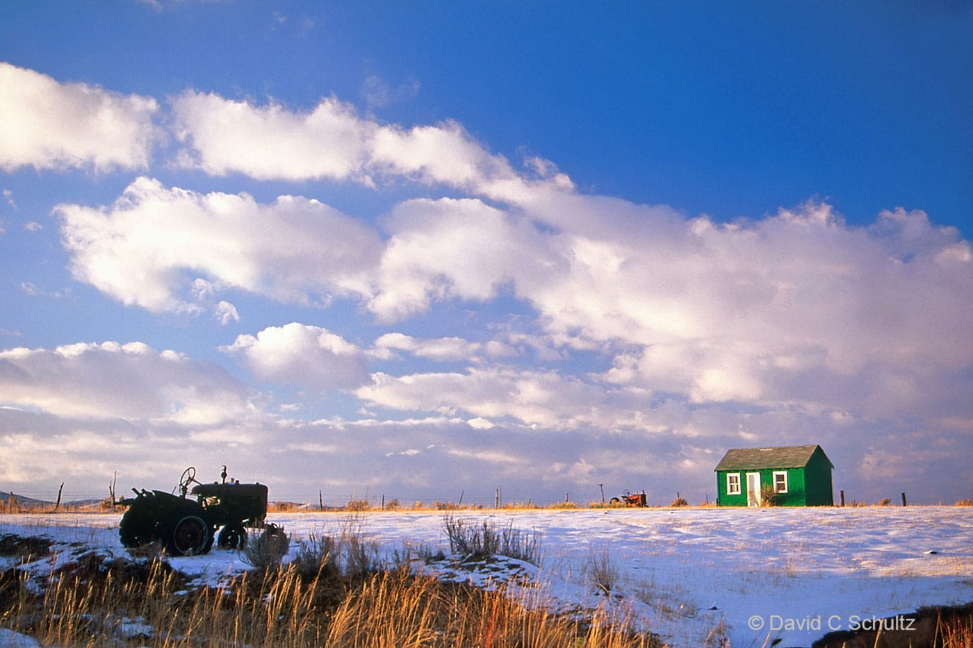 Old homestead during winter in Woodruff, UT - Image #13-1223