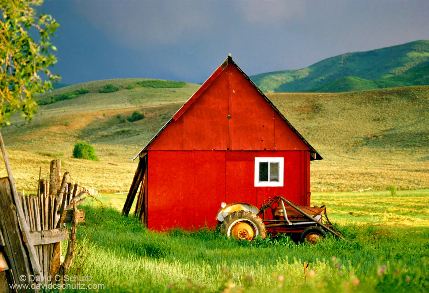 Red barn in Heber Utah- Image #13-57