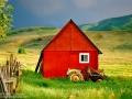 Red barn in Heber Utah- Image #13-57