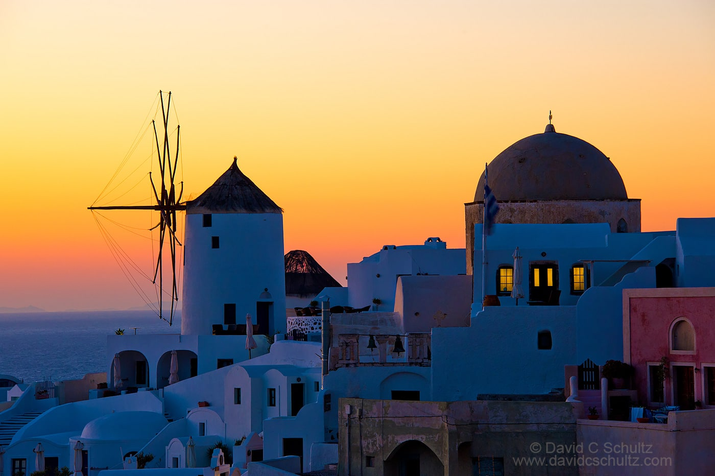 Sunset at Oia, Santorini, Greece - Image #202-631