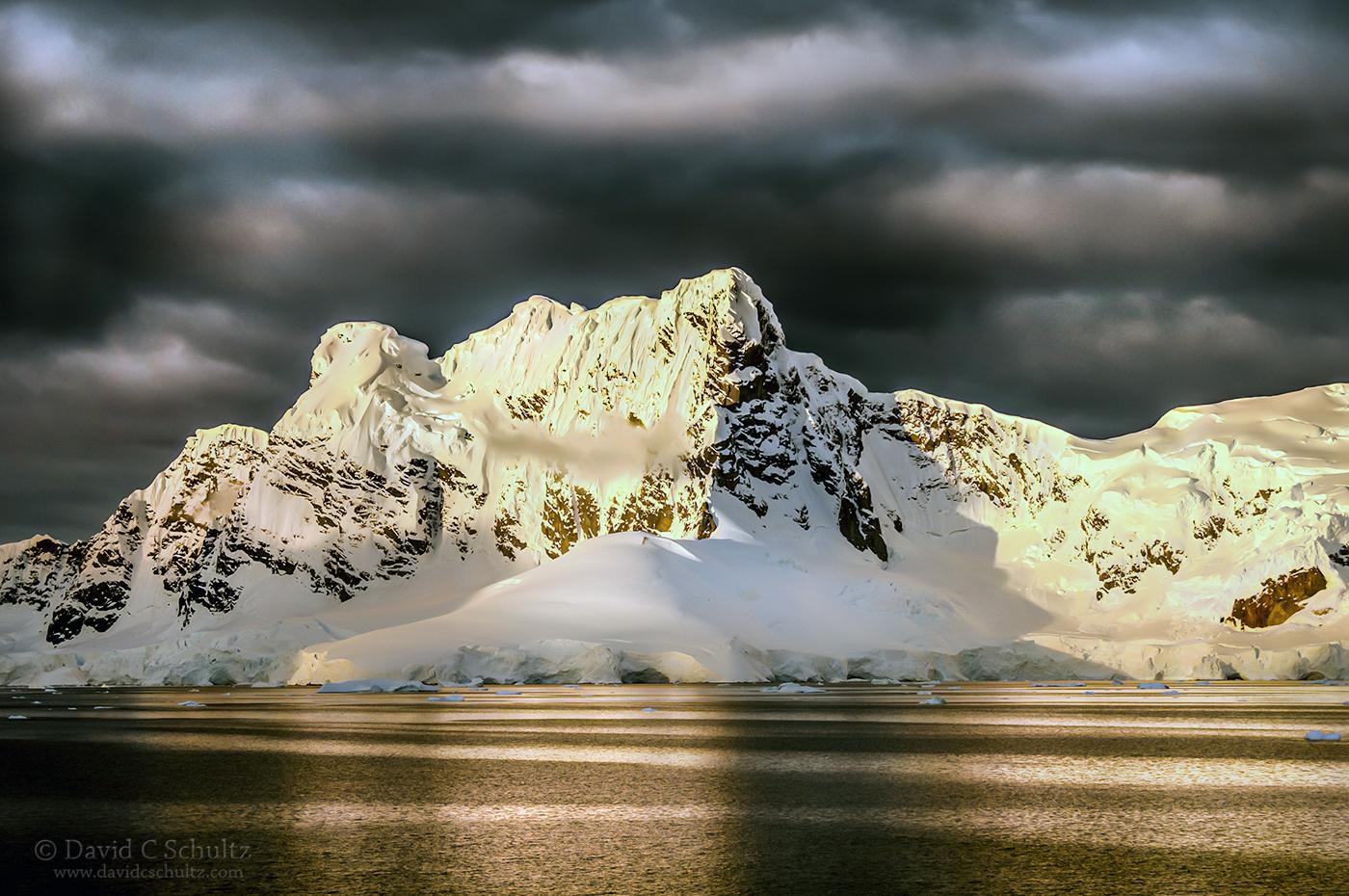 Sunset at Paradise Bay, Antarctica - Image #166-437