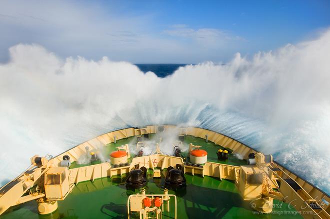 The Russian icebreaker Kapitan Khlebnikov crossing the Drake Passage.