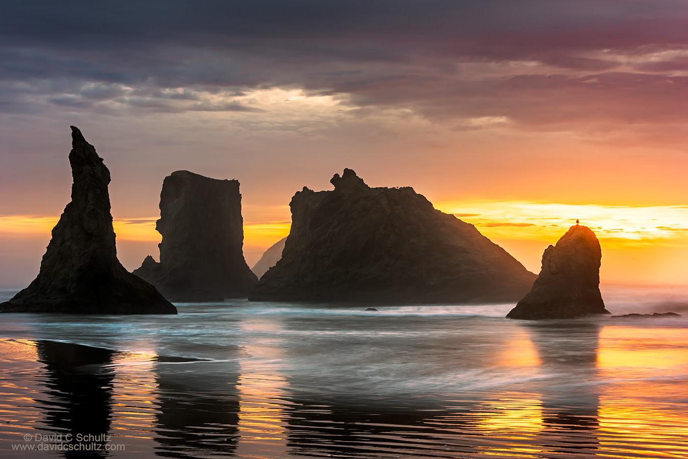 Bandon Beach Oregon sunset