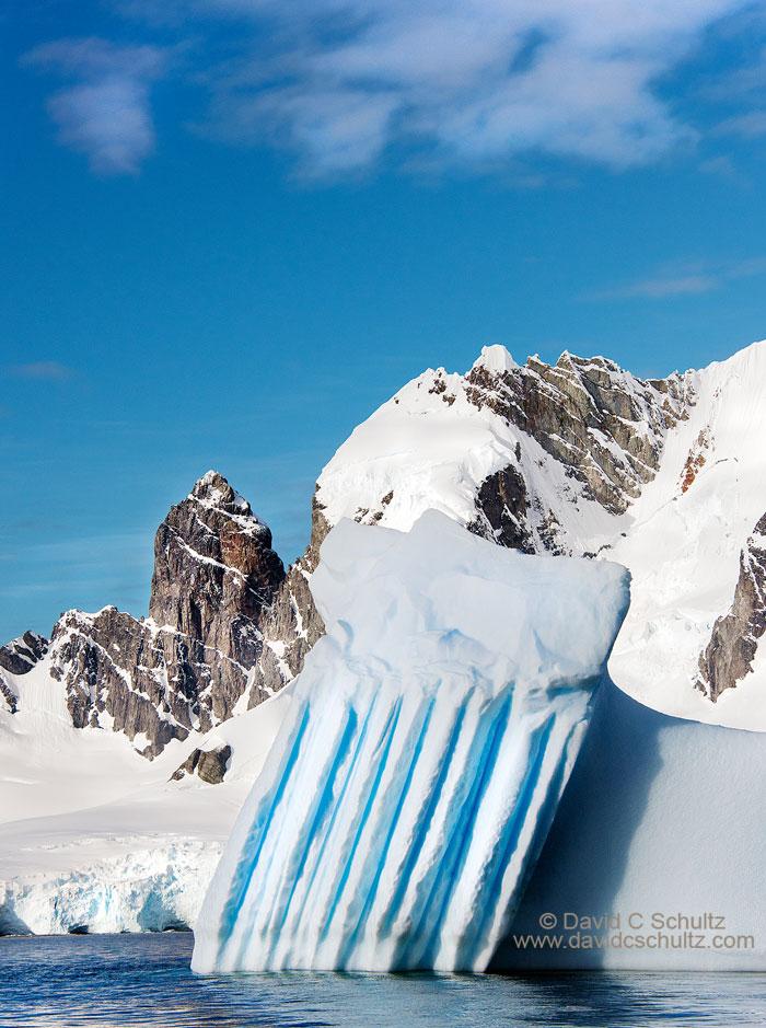 Iceberg along the Antarctic Peninsula near Cuverville Island.