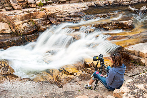 Nature photography lessons in the Uinta Mountains, Utah.