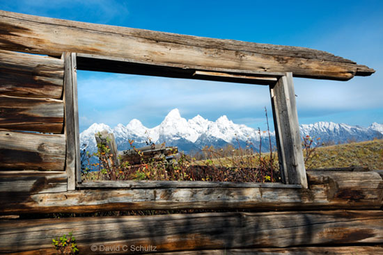 Shane cabin and Grand Teton National Park