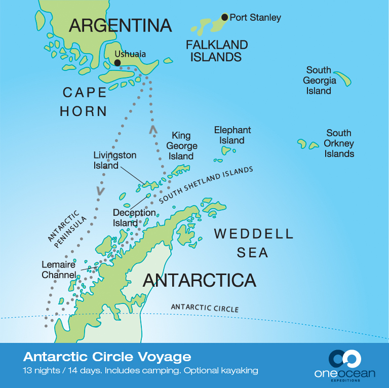 Antarctic Photo Tour Map