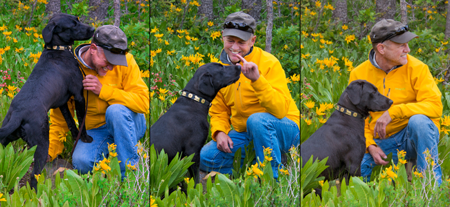 Nature photographer David C. Schultz and his buddy Moya.