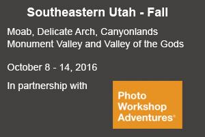 Photographer David C Schultz leading a SE Utah photo tour