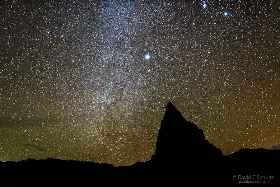 Night sky over Capitol Reef National Park during Southern Utah Photo Tour.