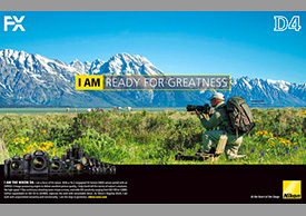 Photographer David C Schultz in Nikon video ad campaign