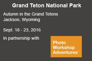 Grand Teton photo tour with David C Schultz and Photo Workshop Adventures