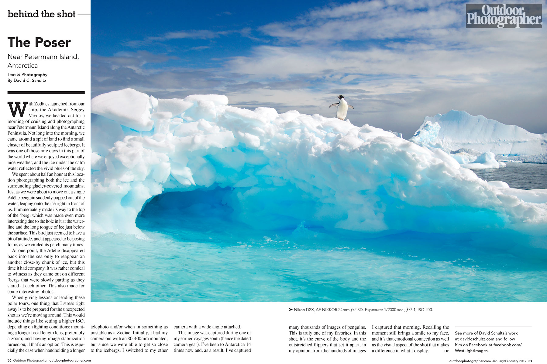 Outdoor Photographer Magazine Behind the Shot by David C Schultz