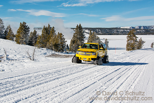 Semi-private Photo tour winter in Yellowstone 2017 snow coach