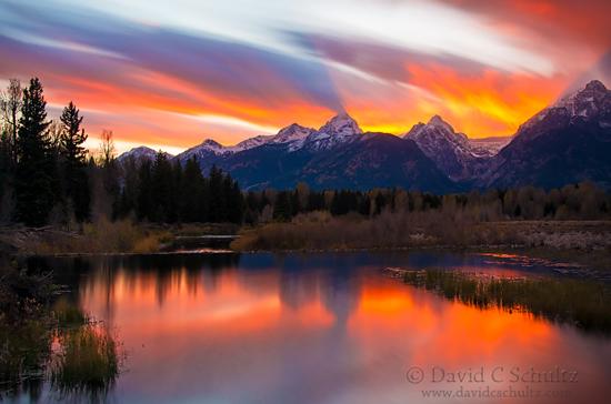 Sunset during the Grand Teton photography tour