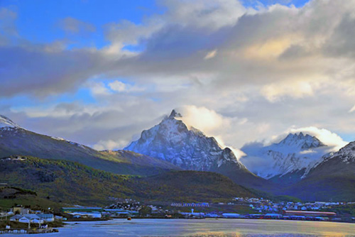 Port town of Ushuaia in Argentina