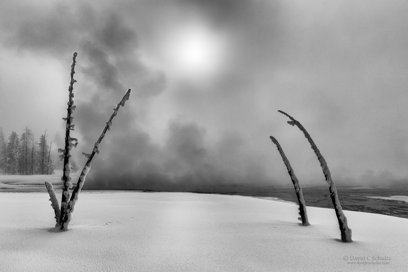 From my Winter in Yellowstone photo tours here is a photograph of middle geyser basin.